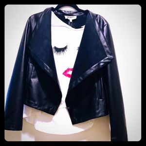 NWT - Faux Leather and Suede lined jacket